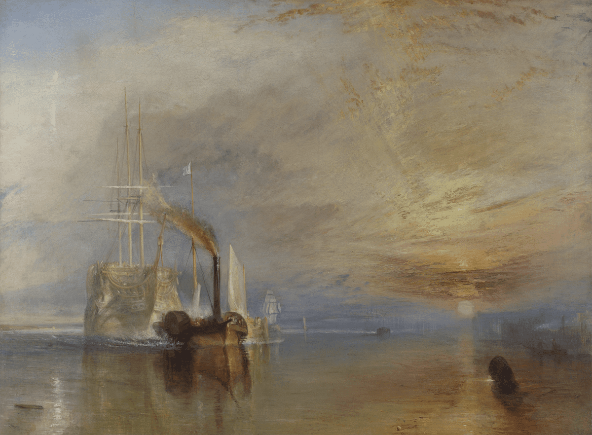 the Fighting Temeraire - John W Turner  - Lasting Impressions